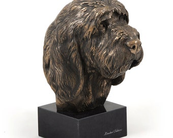 Grand Basset Griffon Vendeen, dog marble statue, limited edition, ArtDog. Made of cold cast bronze. Solid, perfect gift. Limited edition.