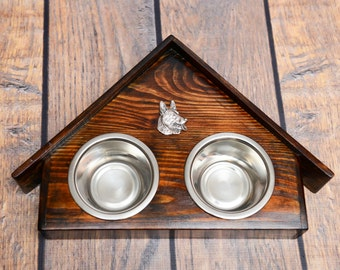 A dog's bowls with a relief from ARTDOG collection - German Shepherd