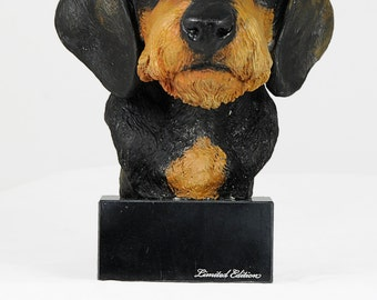 Dachshund, dog marble statue, painted, limited edition, make your own statue, ArtDog