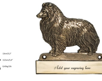 Sheltie, dog plaque, can be engraved, limited edition, ArtDog