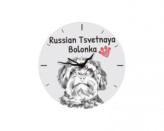 Bolonka, Free standing MDF floor clock with an image of a dog.