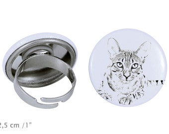 Ring with a cat -Egyptian Mau