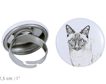Ring with a cat - Siamese cat