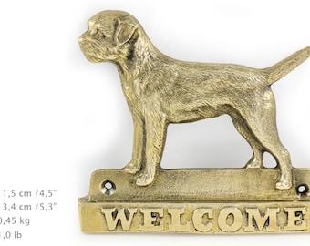 Border Terrier, dog welcome, hanging decoration, limited edition, ArtDog