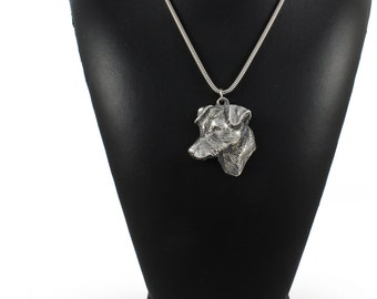 NEW, Jack Russell Terrier, dog necklace, silver chain 925, limited edition, ArtDog
