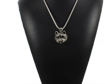 NEW, West Highland White Terrier, dog necklace, silver cord 925, limited edition, ArtDog