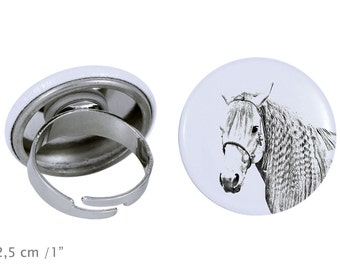 Ring with a horse - Azteca horse