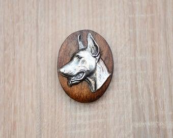 Dobermann, dog show ring clip/number holder, limited edition, ArtDog