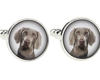 Weimaraner. Cufflinks for dog lovers. Photo jewellery. Men's jewellery. Handmade