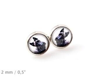 Scottish Terrier. Pet in your ear. Earrings. Photojewelry. Handmade.