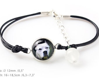 Argentine Dogo. Bracelet for people who love dogs. Photojewelry. Handmade.