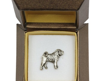 NEW, Shar-Pei, dog pin, in casket, limited edition, ArtDog
