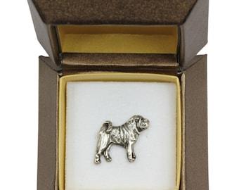NEW, Shar-Pei, dog pin, in casket, limited edition, ArtDog