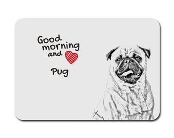 Pug, A mouse pad with the image of a dog. Collection!