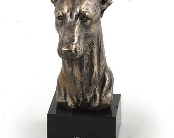 Whippet, dog marble statue, limited edition, ArtDog. Made of cold cast bronze. Solid, perfect gift. Limited edition.