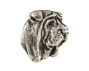Shar Pei head, dog pin, limited edition, ArtDog
