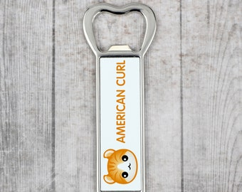A beer bottle opener with a American Curl cat. A new collection with the cute Art-Dog cat