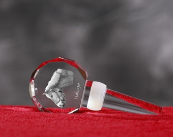Haflinger, Crystal Wine Stopper with Horse, Wine and Horse Lovers, High Quality, Exceptional Gift. New Collection