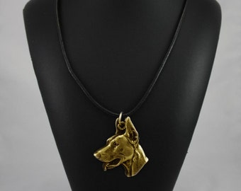 Doberman Pinscher, millesimal fineness 999, dog necklace, limited edition, ArtDog