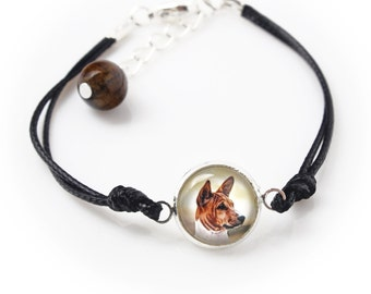 Basenji. Bracelet for people who love dogs. Photojewelry. Handmade.