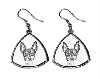 Toy Fox Terrier- NEW collection of earrings with images of purebred dogs, unique gift