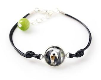 Bearded Collie. Bracelet for people who love dogs. Photojewelry. Handmade.