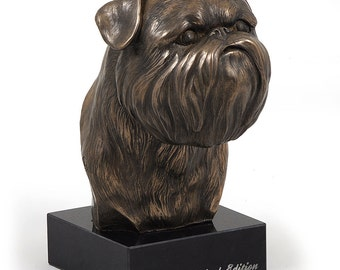 Griffon Bruxellois, dog marble statue, limited edition, ArtDog. Made of cold cast bronze. Perfect gift. Limited edition