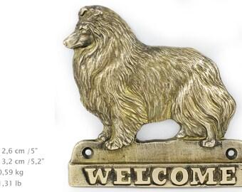 Scheltie, dog welcome, hanging decoration, limited edition, ArtDog