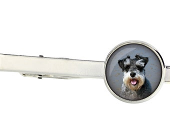 Labrador Dog Image Rhodium Plated Tie Clip in Gift Box