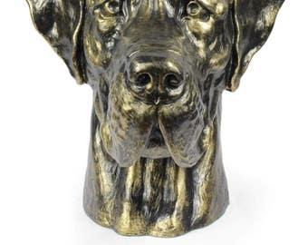 Urn for dog ashes - Great Dane statue. ArtDog Collection Cremation box, Custom urn.