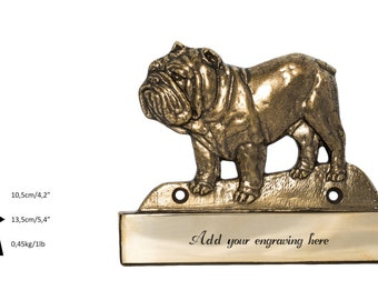 Bulldog, dog plaque, can be engraved, limited edition, ArtDog