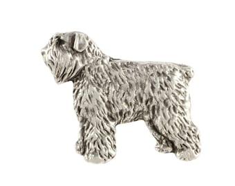 Bouvier des Flandres body, dog pin, limited edition, ArtDog