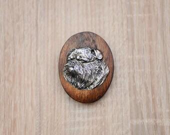 Brussels Griffon, dog show ring clip/number holder, limited edition, ArtDog