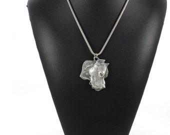 NEW, Dogo Argentino, dog necklace, silver cord 925, limited edition, ArtDog