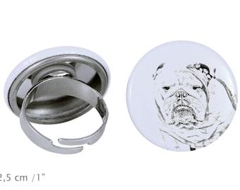 Ring with a dog - Bulldog, English Bulldog