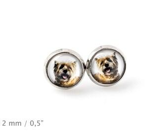 Cairn Terrier. Pet in your ear. Earrings. Photojewelry. Handmade.