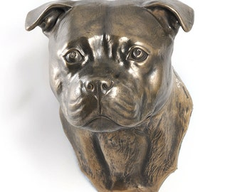 English Staffordshire Terrier, dog hanging statue, limited edition, ArtDog
