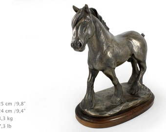 Shire, horse wooden base statue, limited edition, ArtDog