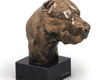 Dogo Argentino, dog marble statue, limited edition, ArtDog. Made of cold cast bronze. Perfect gift. Limited edition