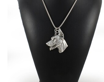 NEW, Doberman Pinscher, dog necklace, silver cord 925, limited edition, ArtDog