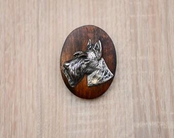 Scottish Terrier, dog show ring clip/number holder, limited edition, ArtDog
