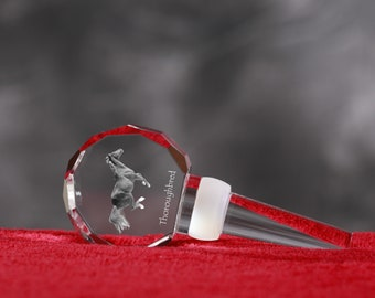 Thoroughbred, Crystal Wine Stopper with Horse, Wine and Horse Lovers, High Quality, Exceptional Gift. New Collection