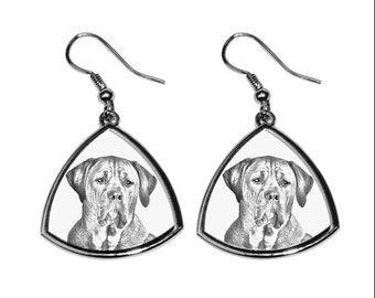 Tosa- NEW collection of earrings with images of purebred dogs, unique gift