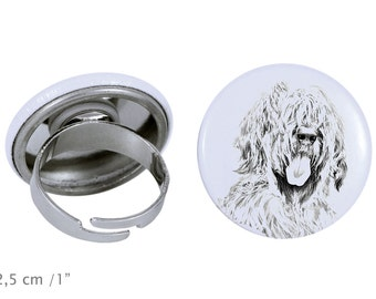 Ring with a dog - Briard