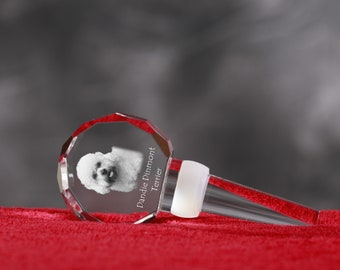 Dandie Dinmont Terrier, Crystal Wine Stopper with Dog, Wine and Dog Lovers, High Quality, Exceptional Gift. NEW COLLECTION