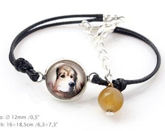 Tibetan Mastiff. Bracelet for people who love dogs. Photojewelry. Handmade.