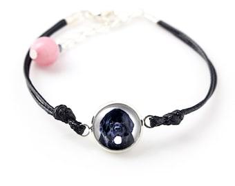 Newfoundland. Bracelet for people who love dogs. Photojewelry. Handmade.