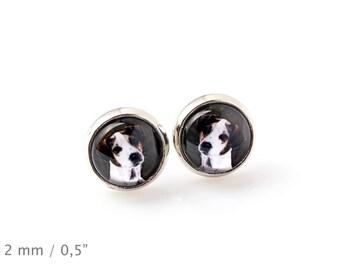 Jack Russell Terrier. Pet in your ear. Earrings. Photojewelry. Handmade.