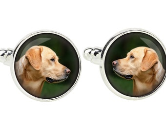 Labrador Retriever. Cufflinks for dog lovers. Photo jewellery. Men's jewellery. Handmade