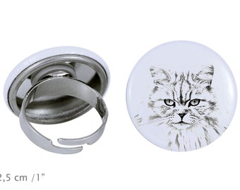 Ring with a cat -British longhair